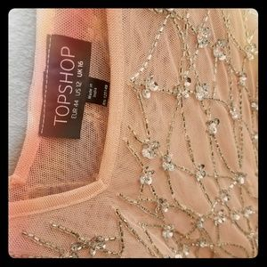 Topshop sequin swing top